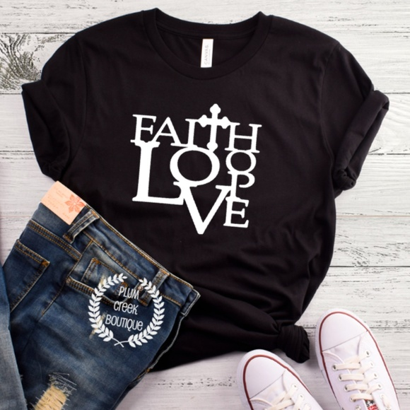 05f7fdf36a86 Plum Creek Boutique Tops | Christian Tees With Sayings Faith Hope ...